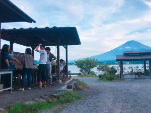 富士山とBBQ